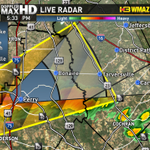 Severe T-storm Warning for Bleckley/Houston/Peach/Twiggs Cty until 6:15 PM for 60 mph winds/quarter sized hail. #gawx http://t.co/iZHbYYgzN8