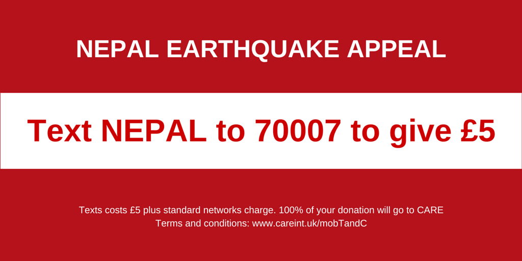 Text to donate and help us support families hit by the #NepalEarthquake http://t.co/lzcybkocmo