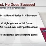 LeBron James entered todays game against Boston with some impressive 1st-round playoff stats. http://t.co/zZ064tHJvO
