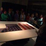 Civil War battle flag of the 24th Michigan carried at #Gettysburg @LibraryofMich #LansingCivilWar150 #civilwar150 http://t.co/MLOaoFKbwq