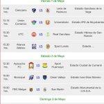 Programación de la Primera Fecha del Torneo Apertura 2015 http://t.co/qxnW8nZSYn