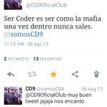 Ser Coder es como la mafia una vez dentro, nunca sales. #SiempreDeLaManoConCD9 @somosCD9 http://t.co/ykNA0vCZdp