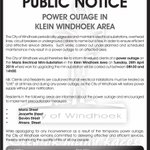 Anne: If you live in Klein Windhoek, be sure youre ready for the #poweroutage tomorrow. @WindhoekCity http://t.co/mLqkpoFpvO