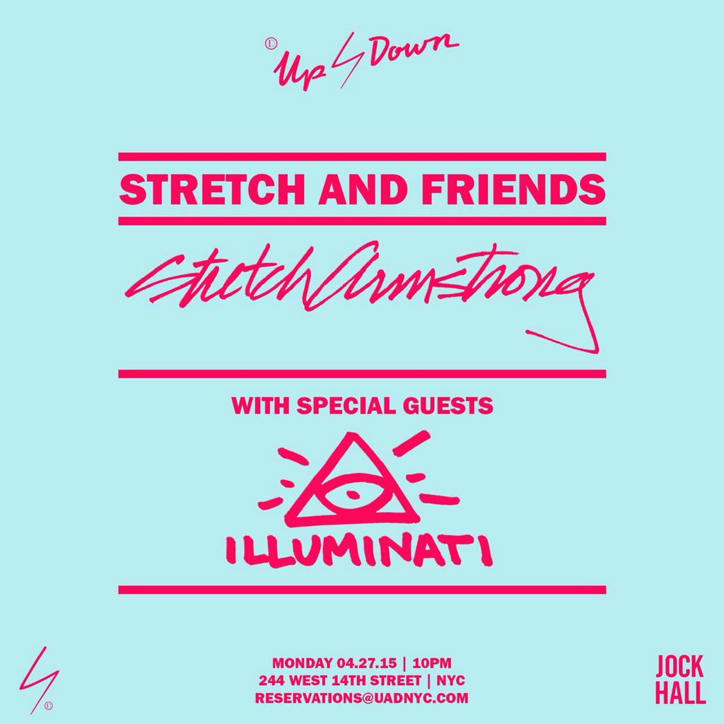 Tonight @uadnyc #stretchandfriends with @StretchArmy and @illuminatiAMS