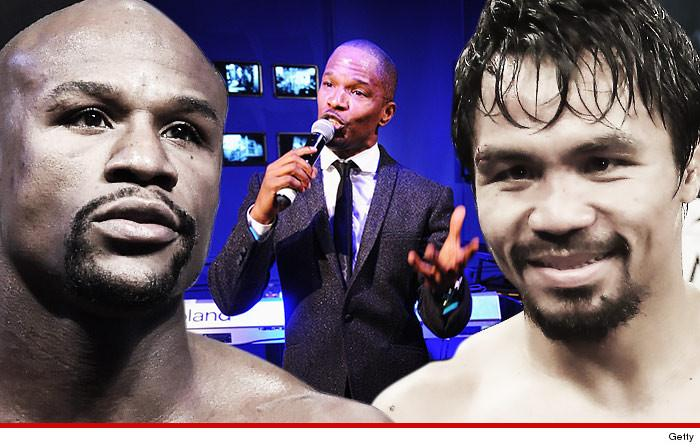 Jamie Foxx is singing the National Anthem at the Mayweather vs. Pacquiao fight!