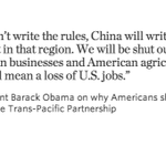 If Pacific trade deal fails, Obama says China will step into the space left by the U.S. http://t.co/Qd6Rnt21rK #TPP http://t.co/YgjcBrhExt