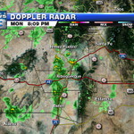 Scattered storms continue to spill into the #ABQ metro from the north.  Will dominish through night. #nmwx http://t.co/kbYGUlBhyn