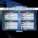 قرعه كأس العالم لكرة القدم الشاطئية المزمع إقامتها بالبرتغال تضع منتخبنا في المجموعة B مع سويسرا،إيطاليا وكوستاريكا http://t.co/JGK9RvW4UT