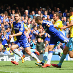 """Chelsea hero @hazardeden10 on his goal: """"In my head was... I don't know. I know with my head I'm not good... Lucky!"""" http://t.co/8MHwkSs7Yr"""