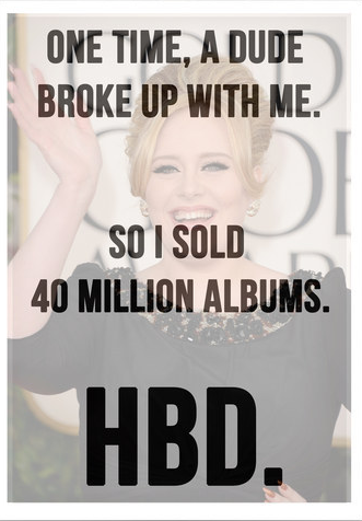 9 Birthday Cards Adele Should Totally Give To Herself