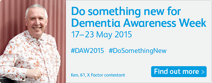 Dementia Awareness Week 2015 is from 17-23 May and we want you to #DoSomethingNew http://t.co/yHAmvQR933 #DAW2015 http://t.co/NmjUw5aH7t
