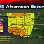 Only a few big storms today will form, but theyll pack a punch. @aaron_brackett on @kfor at 12 with timeline. #OKWX http://t.co/pEgY3kMPFn