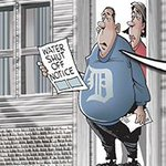 Detroit water shutoffs loom. My cartoon: http://t.co/LVsfnERYU1 #Detroit #Michigan #water #poverty http://t.co/gHvygaCJmf