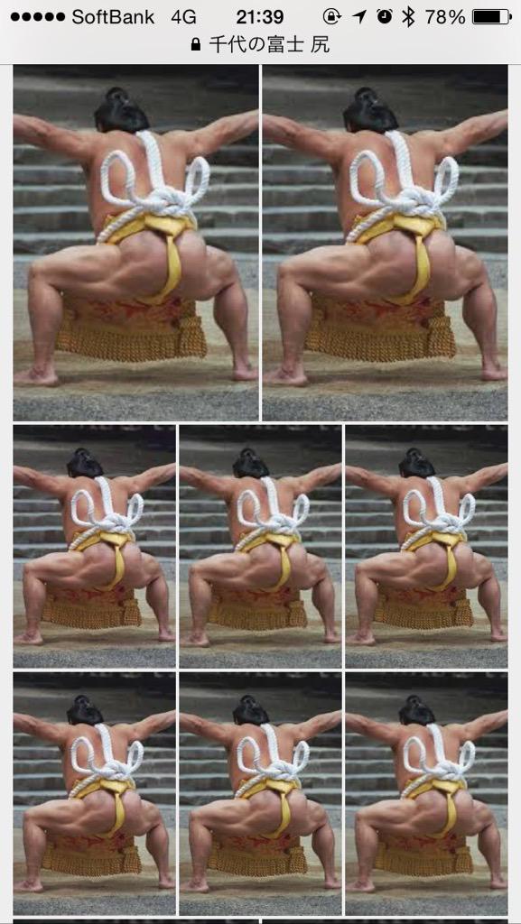 昨夜千代の富士の尻の筋肉が凄いという話題になり画像検索かけた結果 http://t.co/UcPZgPOcWz