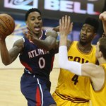 FINAL: The Atlanta Hawks fall to the Cleveland Cavaliers 114-111 in overtime. Jeff Teague: 30 Pts, 6 Reb, 7 Ast. http://t.co/JW8tE2JFaz