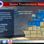 A Severe Thunderstorm Watch is in effect until 1 PM today for the Big country and northern Concho Valley. #txwx http://t.co/caq6c8vr75