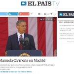 El País da en directo el acto de presentación del grupo municipal de Ahora Madrid. A Carmena le ha dado mucho el sol. http://t.co/nFKpFVZWQT