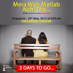 RT @actorprepares: 3 days to go for the SINGAPORE premiere of #Merawohmatlabnahitha. Have you booked your tickets as yet?