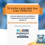 Te invito a contrastar propuestas hoy en el #DebateQro, vamos a ganar. #QuerétaroDeVerdad http://t.co/82rrS9NmJh