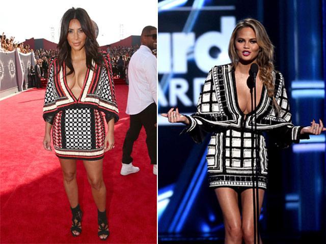 Who wore it best: @KimKardashian  or @chrissyteigen? #BBMAs #billboardawards http://t.co/VmKDfKVYtH