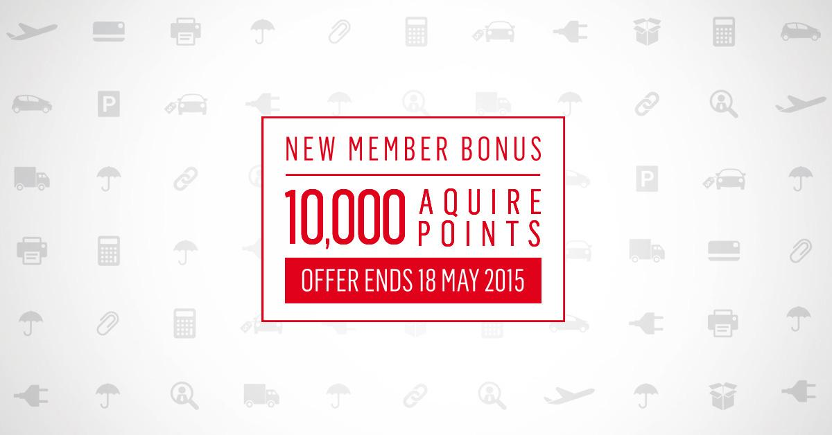 It's the final day to join Aquire for a bonus 10,000 Aquire Points. Hurry, ends today!