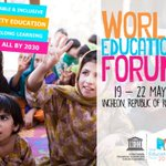 RT @UN_Women: Greater emphasis must be put on #girlseducation http://t.co/2HSuOIrtAP #WorldEducationForum #action2015 http://t.co/U9gco0bgm3