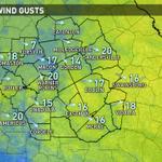 Getting breezy this afternoon as a cold front pushes into Central Georgia. Gusts near 20 at 12 p.m. EDT #gawx http://t.co/Md80ovGCyN