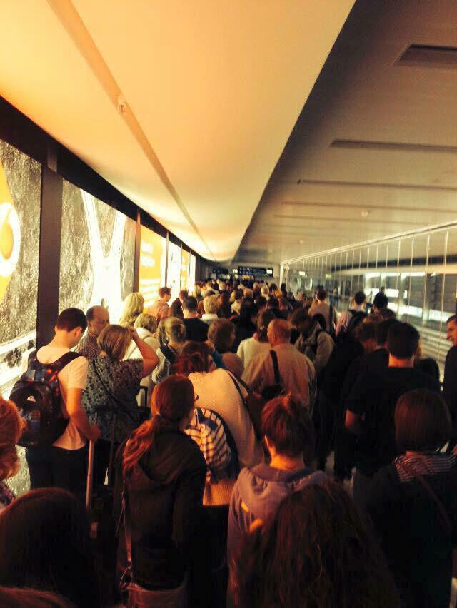 Queue at Dublin airport tonight to get back into Ireland to vote for marriage equality tomorrow #MarRef http://t.co/uCwj7qCxDg