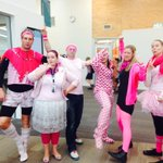 Once again Taheretikitiki does dress up well! Pink for anti-bullying #edchatNZ #PinkShirtDayNZ http://t.co/FM6684OcpS