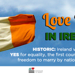 HISTORIC Yes: #Ireland 1st country to bring freedom to marry by popular referendum #MarRef http://t.co/Jx0U7VqSbW http://t.co/gdk4A9Is3a