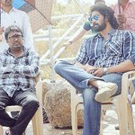 In the days of the long hair with director Gunashekar!! http://t.co/7yILBZ3jSz