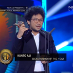 Congratulation! @KuntoAjiW wins Breakthrough Artist of The Year at Indonesian Choice Awards #NET2Anniversary http://t.co/7Pyxxl0QFW