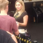 @JFR_Racing Top Fuel driver Brittany Force visits with fans Sunday prior to Kansas Nationals eliminations. http://t.co/S8aoNSDZhh