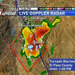 Tornado Warning for El Paso Co. Storm over Security Widefield CAPABLE of producing a tornado. Moving NE @ 25mph #cowx http://t.co/qMbIAtkf1s