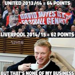 Moyes Man Utd finished with more points (64pts) last season than Rodgers Liverpool (62pts) did this season. http://t.co/HmEjGWfHHD