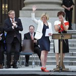 Honoured to have been sworn in as the 17th Premier of Alberta. Thank you for putting your trust in us. #ableg http://t.co/mWgjqmofDu