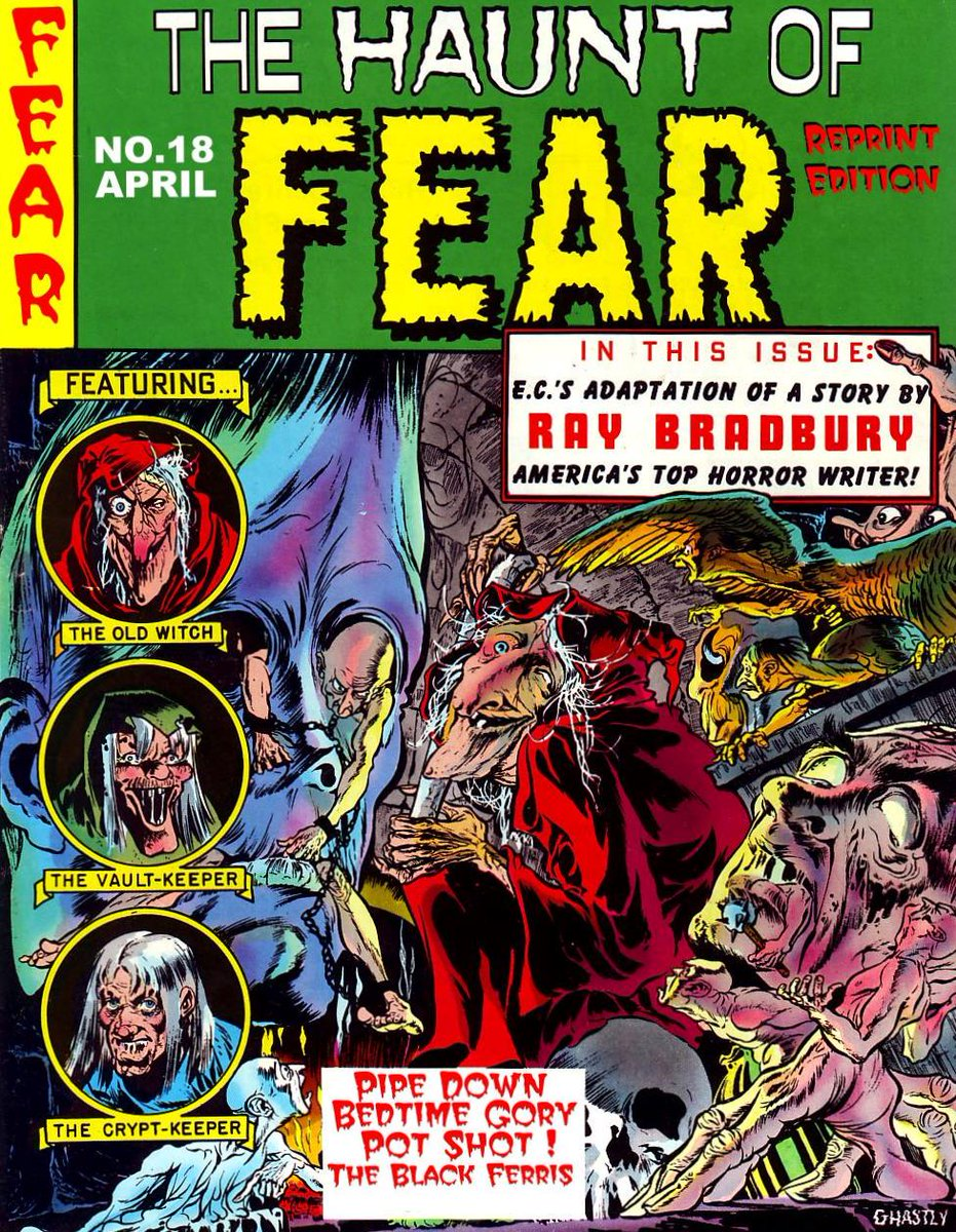 How did #RayBradbury respond to burnings of #ECcomics in 1948? Hear the answer live onstage: http://t.co/fbk1IHEAeU http://t.co/X0PkhCfnUe