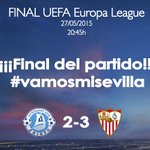 ¡¡¡FINAL DEL PARTIDO!!! EL #SevillaFC GANA LA CUARTA @EuropaLeague #VAMOSMISEVILLA #VAMOSCAMPEON #TeQuieroSevilla http://t.co/QxwnGPRru9