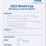Leaked image of Qatar 2022 ballot paper http://t.co/NrphWwIWes