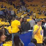 Kanye West is in Oakland watching the Warriors play in Game 5. ???? http://t.co/YRatrCvcUe