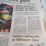 @BernieSanders above the fold in todays @washingtonpost #vt #vtpoli http://t.co/QjzohRd8J5