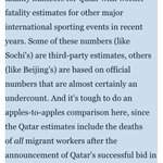 """@abstex No one even knows how many of the """"deaths in Qatar"""" have *anything* to do with the World Cup. http://t.co/oPzVW1lZMH"""
