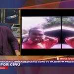 Upcoming musician A. Brian dedicates song to Nation FM presenter @CiruMuriuki http://t.co/gGw9vMabLQ
