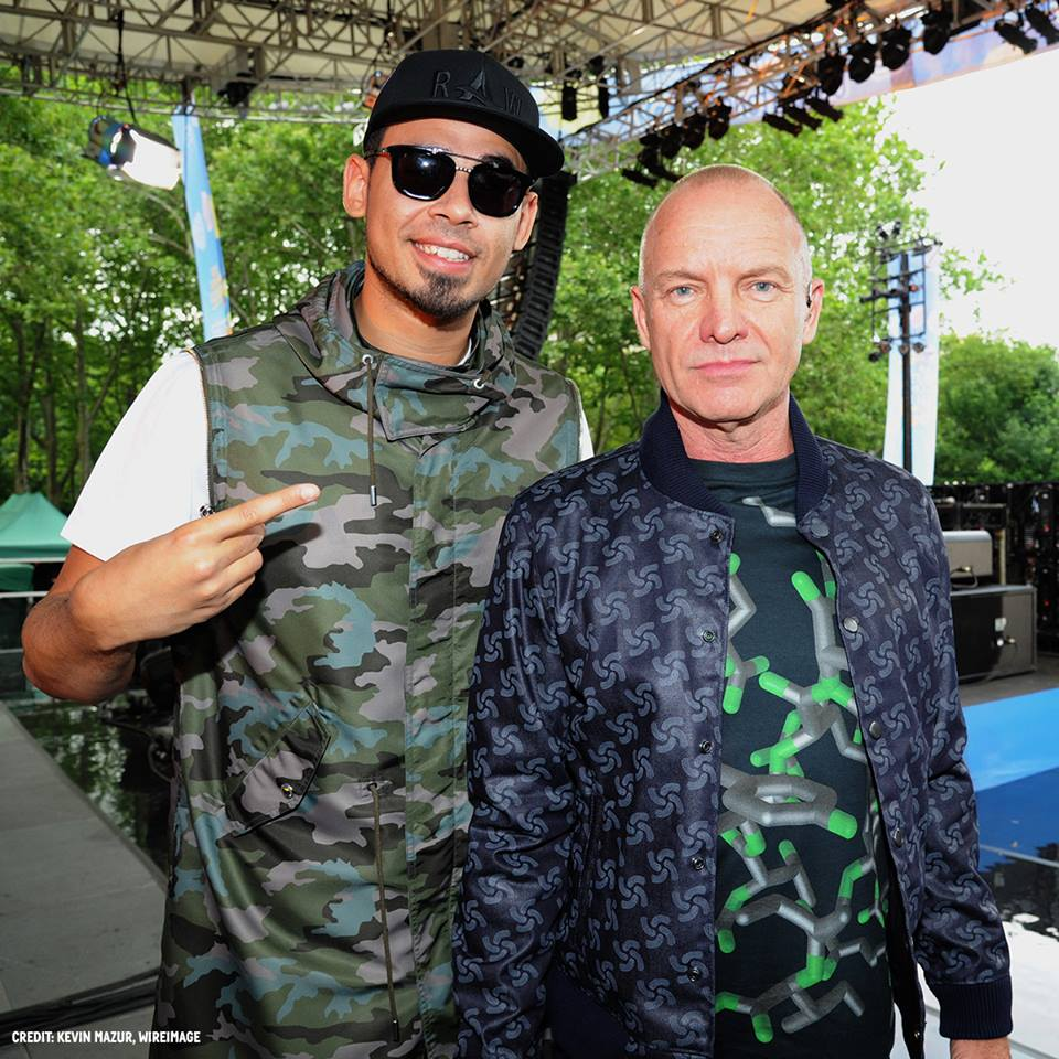 .@djafrojack & @OfficialSting supporting the #oceans. #worldoceansday #rawfortheoceans @parleyxxx @bionicyarn http://t.co/y2Qsu7OaIy