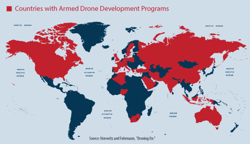 31 countries currently have armed #drone development programs. An upcoming CNAS report examines the implications. http://t.co/G10PsIKBla