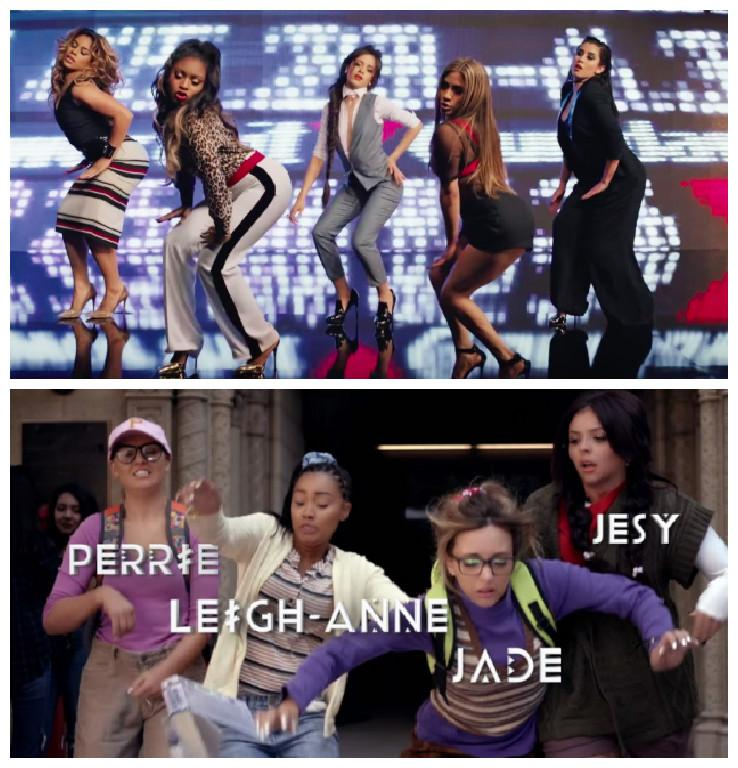 "Quel clip préférez-vous ?! ""Black Magic - @LittleMix"" (RT) ou ""Worth It - @FifthHarmony"" (FAV) ?? http://t.co/sZ4mGmqOn0"