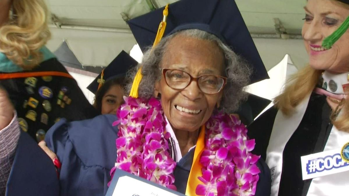 """""""Dream come true"""": 99-year-old accomplishes goal of earning college degree before turning 100 http://t.co/IMJslOxV6I http://t.co/03zldjcYyc"""