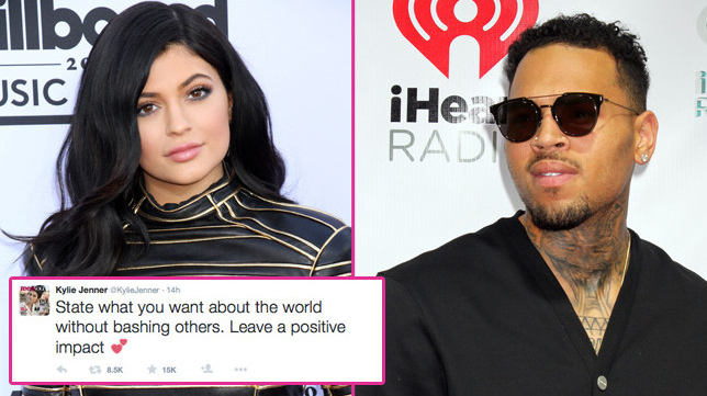 Kylie Jenner hits back at Chris Brown's transphobic Caitlyn Jenner comments