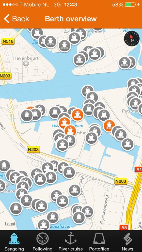 Cool Mooie app van @PortofAmsterdam IAmPort Bekijk alle binnenkomende en vertrekkende schepen en zie wat de lading is http://t.co/wHvyR0UAcj