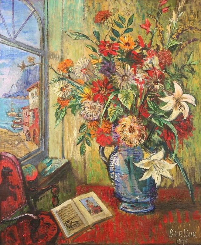 Flowers by the Sea David Burliuk #art http://t.co/pSjGg78ifP http://t.co/CEzLi68eut